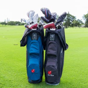 Two bags of rental clubs from Ko Olina Golf Club