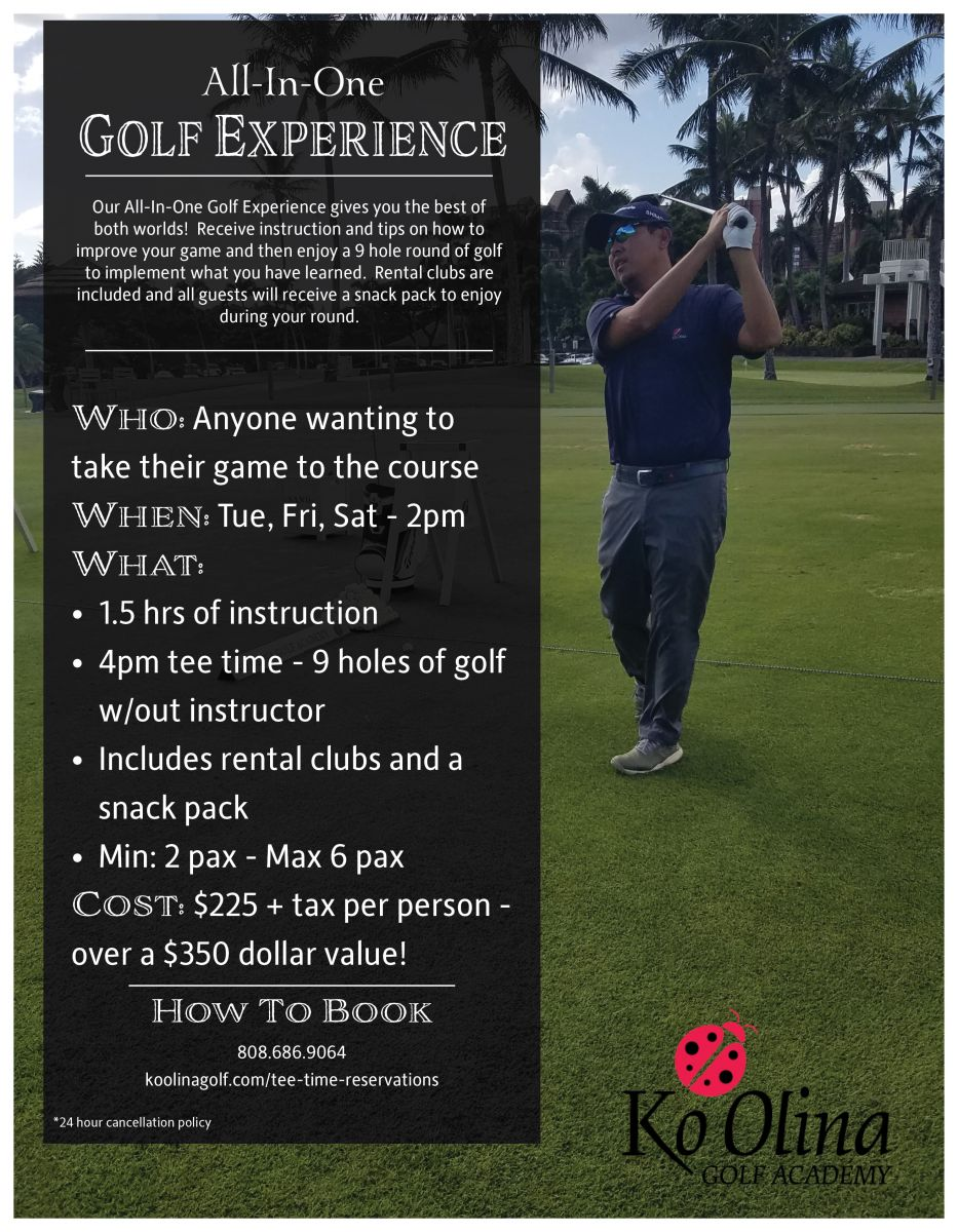All-In-One Golf Experience flyer