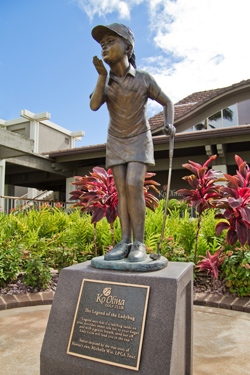 The Lucky Ladybug Statue at Ko Olina Golf Club