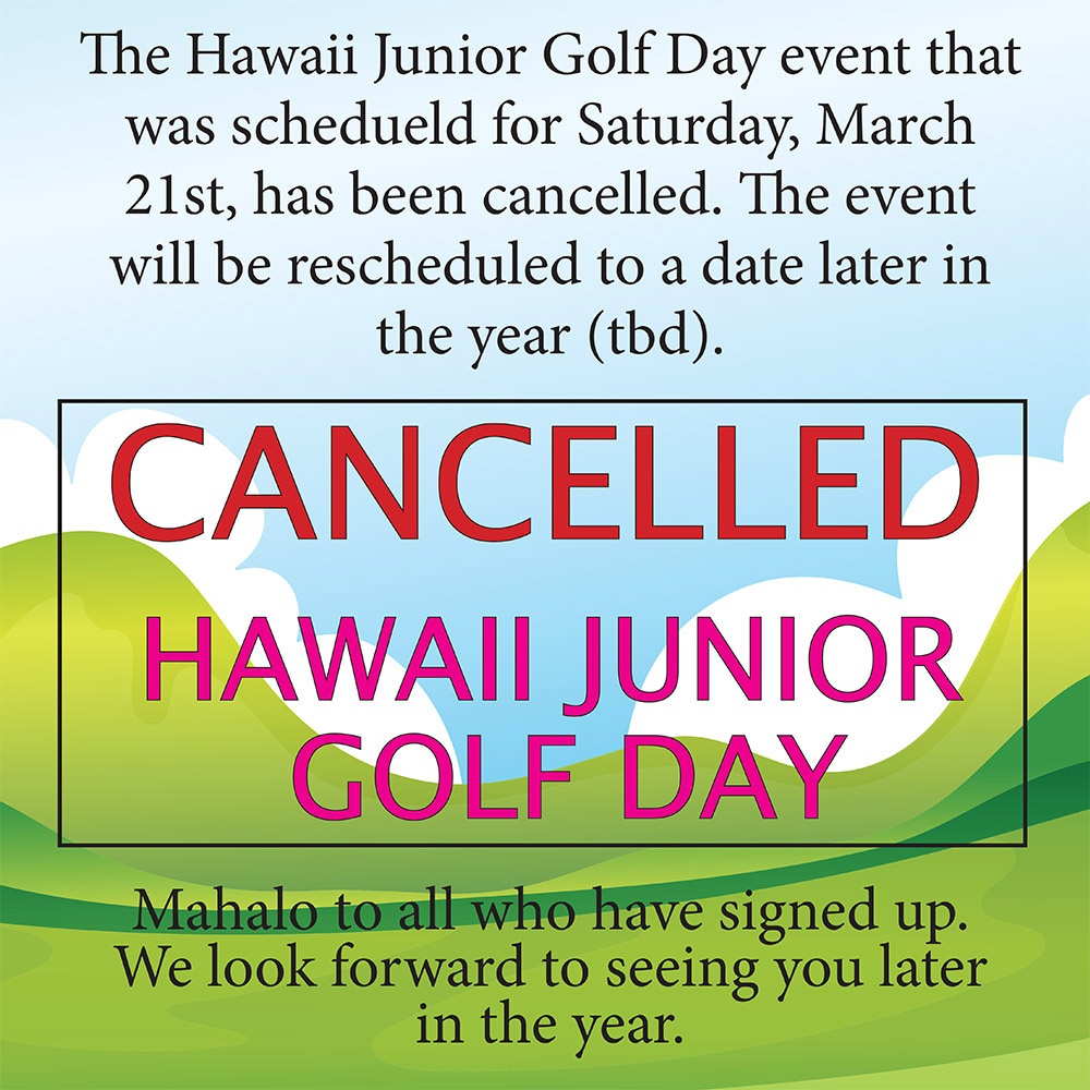 Junior Golf Day has been cancelled